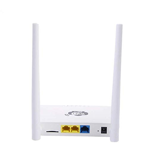 Wlan-Router 300Mbps WiFi-router 4G LTE Thuis Wireless Router CPE Past In Elk Type Thuis (Color : White, Size : 140x85x24MM)
