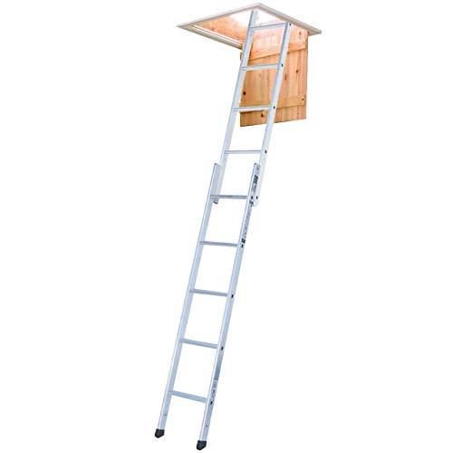 Youngman 302340 Spacemaker 2-delige Loft-ladder, zilver, 167 x 32 x 11 cm, set van 3 stuks