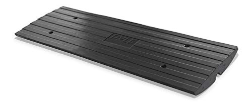 Car Driveway Curbside Bridge Ramp - Heavy Duty Rubber Threshold Curb Ramp, Used for Loading Dock, Garage, Sidewalk, Truck, Scooter, Bike, Motorcycle, Wheelchair Mobility, Other Vehicle - Pyle