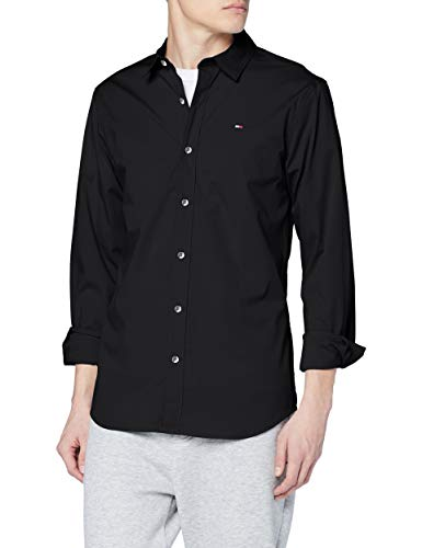 Tommy Hilfiger Original Stretch Camicia Casual, Nero (Tommy Black 078), Large Uomo