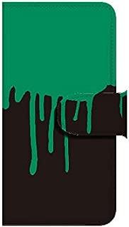 Apple iPhone6Plus(5.5インチ) 垂れインク グリーンブラック スマホケース ブック 手帳型 カバー ql802-e0580(グリーンブラック)
