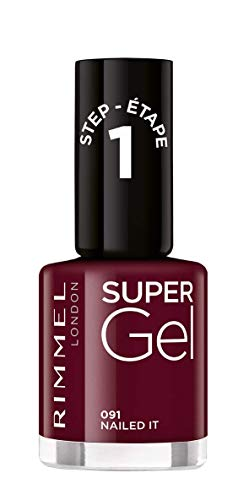 Rimmel London Super Gel French Manicure Smalto Unghie Effetto Nail Polish Gel a Lunga Durata, 12 ml, 091 Nailed IT