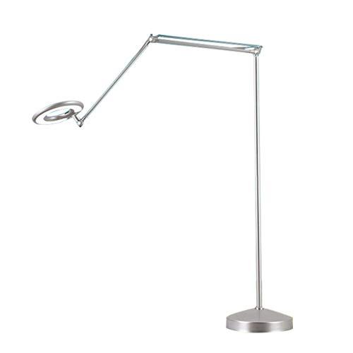 JLXW Ledlamp, moderne vloerlamp met verlichting, niet dimbaar, vergrootglas, 360 graden verstelbare kop voor esthetische tatoeages, salon, spa lezen