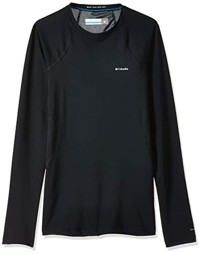 Columbia Midweight Stretch Long Sleeve Top Camiseta térmica de Manga Larga, Mujer, Black, XS