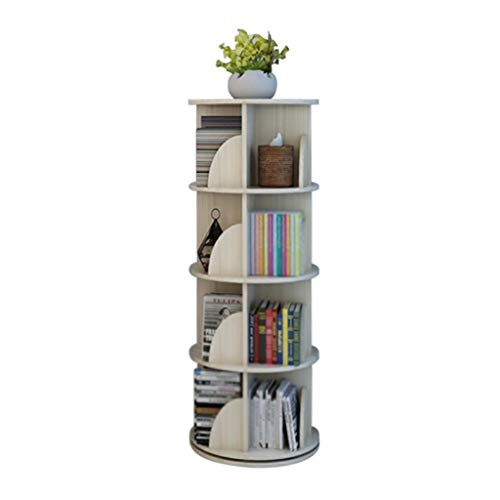 OCYE Convenient bookcase, shelf, heavy duty, rotating design, stainless steel turntable, 150kg capacity, 4 layers / 5 layers