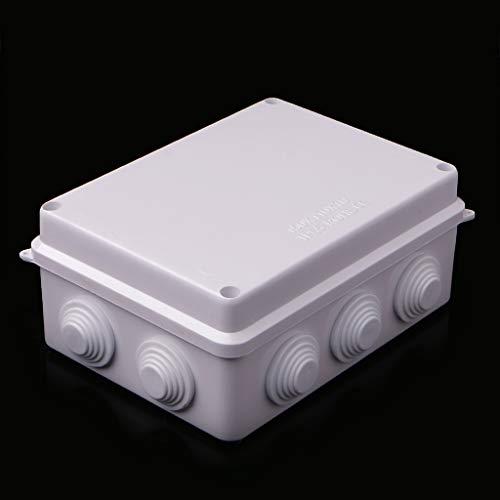 SHURROW Impermeable IP65 ABS Impermeable Sellado Cable eléctrico Caja de Conexiones 150x110x70mm Collar Almacenamiento Blanco