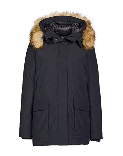 Save The Duck Arctic Women's Copy 7 Faux Fur Hooded Packable Parka (2/M, Black)