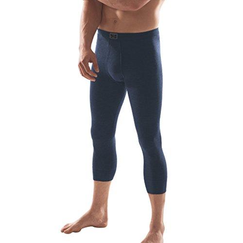 ESGE - Jeans - Herren Unterhose 3/4 lang Feinripp mit Eingriff und weichem Komfortbund Größe 5 bis 9 - Dunkelblau und Schwarz (7, Marine)