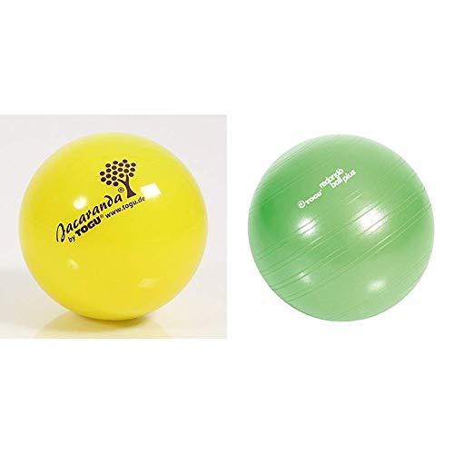Togu Gymnastikball Jacaranda, 14 cm ø & Plus Das Original Gymnastikball Pilates Ball Trainingsball Übungsball, grün, 38 cm Durchmesser