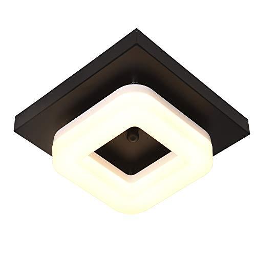 Artpad Lámpara de techo LED moderna para pasillo Pasillo Iluminación del vestíbulo Base de metal Acrílico Superficie Montaje Cuadrado Luz de techo Luminaria 12W Luz blanca cálida 3000K