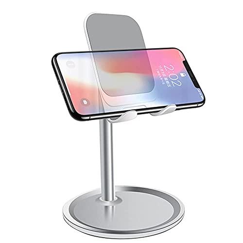 Supporto Tablet, Supporto Telefono Scrivania per Cellulare Universale Stand Dock Regolabile per Smartphone e Tablets 4 -8.7 , iPhone, iPad Mini, Huawei Pad, Samsung Acitve 2 S2, Kindle - Argento