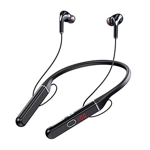 AQUYY Auriculares Inalámbricos In-Ear Bluetooth, Cascos Deportivos Magnéticos con Pantalla de Nivel de Batería, 100H de Reproducción, Auriculares Estéreo Wireless para Correr Fitness Conducción