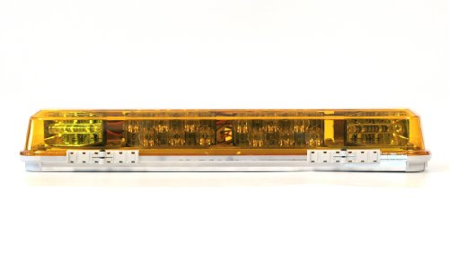 Whelen Century 16in. Mini LED Light Bar With Aluminum Base - Amber Lens, Model Number MC16MA