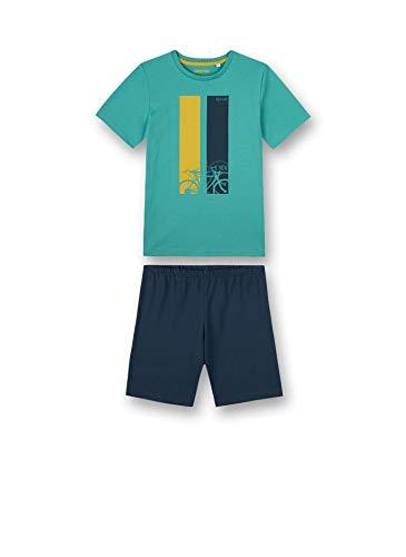 Sanetta Jungen Pyjama Short grün Pyjamaset, seagras, 164