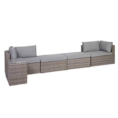 Greemotion Palma Rattan Lounge-Set, grau - 6