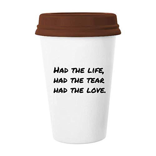 Caneca de cerâmica com citação de poesia famosa, lágrima, amor, caneca de café, copo de cerâmica