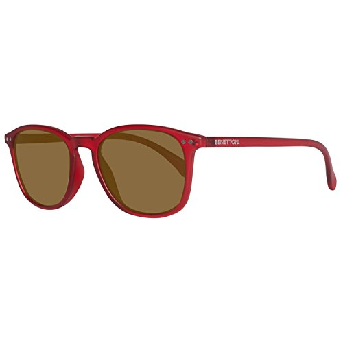 United Colors of Benetton Unisex-Erwachsene BE960S06 Sonnenbrille, Rot (Red), 52