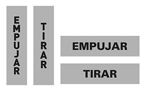 APLI 12136 - Cartel adhesivo Empujar/Tirar (450 x 170 mm)