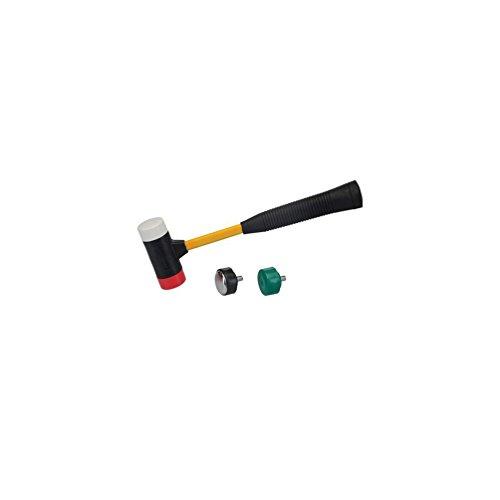 Silverline 633905 Mazo 4 cabezas en 1 intercambiable Ø 37 mm - multicolor