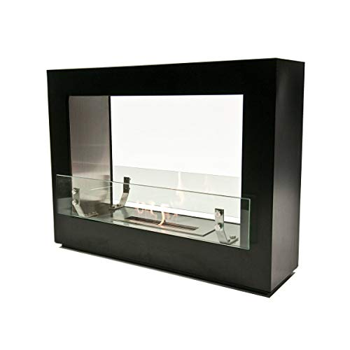 Buy Discount Flame 2.0 Double Sided Free Standing W/16 Burner Black Modern Contemporary Stainless St...
