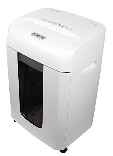 Olympia - Aktenvernichter Schredder Sicherheitsstufe P5 - Papierschredder bis zu 15 Blatt - Aktenschredder Partikelschnitt - Reisswolf weiß