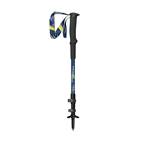 Bâtons de randonnée Bâtons, 7075 en alliage d'aluminium à trois section marche rétractable bâton avec verrouillage extérieur, antidérapante absorbant les chocs Stick marche rétractable, adapté for le