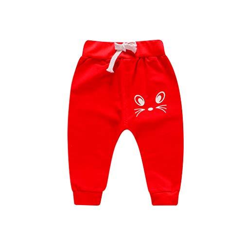 Chandal Bebé, Bebé recién Nacido niña niño Dibujos Animados Gato Impresos Pantalones Casuales Pantalones Deportivos