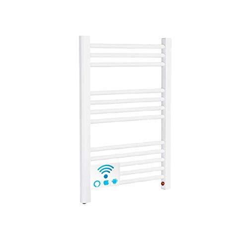 Radiador Toallero Electrico BARCELONA Blanco 250W · Termostato ON/OFF · (700 x 500mm) · El Primer Toallero Bajo Consumo Wi-Fi, Compatible con iOS y Android · Amazon Alexa y Google Home