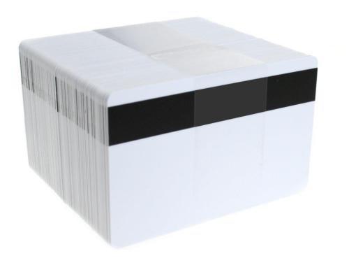 50 tessere magnetiche Hi-Co in PVC e plastica, CR80, 760micron Hi-Co