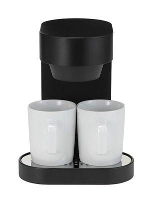 ±0 プラスマイナスゼロ コーヒーメーカー 2カップ(ブラック) XKC-V110(B)