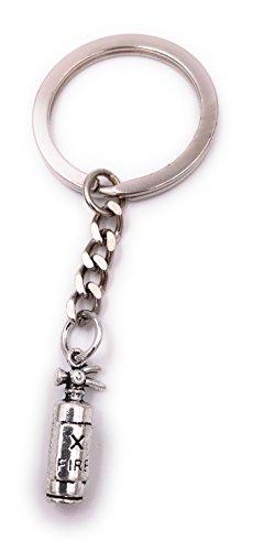 H-Customs Brandblusser kleine sleutelhanger zilver metaal