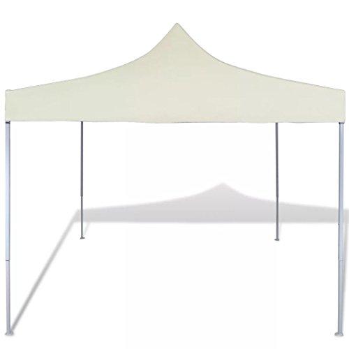 Lechistan Practical Outdoor Tent Folding Tent Modern Style Cream 3 x 3 x 3.15 m (Length x Width x Height)