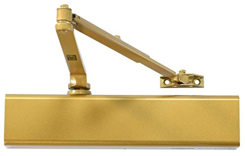 Heavy Duty Designer Commercial Door Closer - LYNN Hardware DC8016 (Brass/Gold)- Surface Mounted, Grade 1, Cast Aluminum, UL 3 Hour Fire Rated and ADA for high Traffic doorways & storefronts