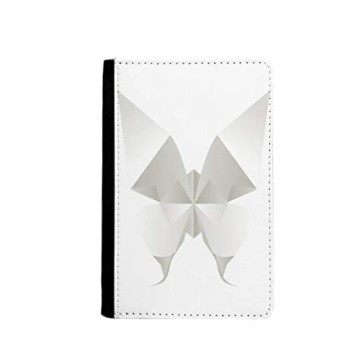 beatChong Mariposa Blanca Patrón De Origami Abstracta Bolso De Viaje con Pasaporte Tarjeta De La Caja Cubierta De La Carpeta