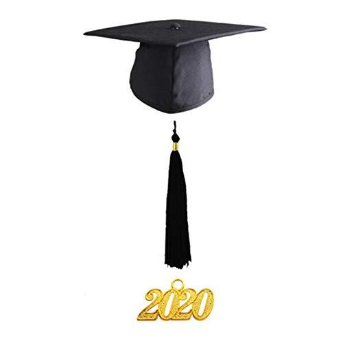 Doktorhut (Studentenhut) 2020 Jahreszahl Anhänger - Hut für Abschlussfeiern vom Studium, Universität, Hochschule, Abitur - Absolventenhut