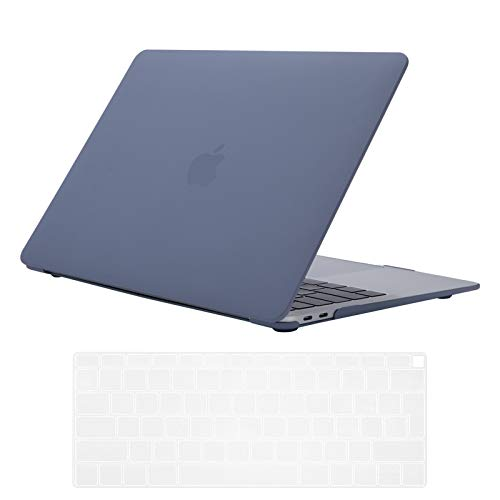 Se7enline 2018/2019/2020 New MacBook Air 13 Inch Case Plastic Hard Shell Case Cover for MacBook Air 13-Inch Retina Display Touch ID Version A1932/A2337/A2179 with Keyboard Cover, Lavender Gray
