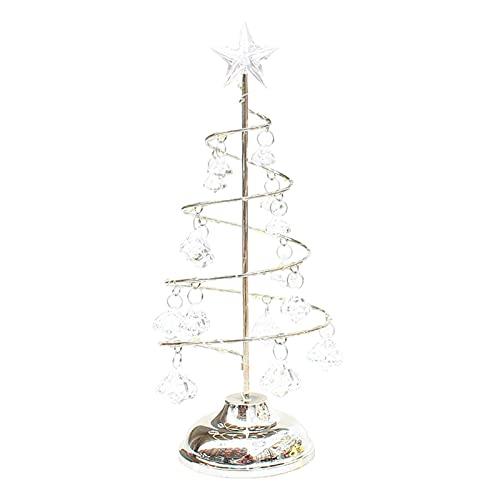 H HILABEE Lámparas de árbol de Navidad Luz de Noche para decoración de Mesa Niños Regalos para niños - Plata M