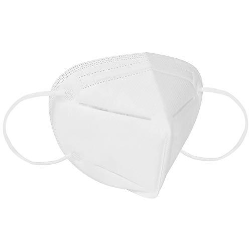 Ggdoo Boca Máscara KN90 4- Capa de la mascarilla del Adulto Anti- Niebla Haze Prueba de Polvo de la máscara a Prueba de Viento PM 2, 5 Máscara Anti- partículas al Polvo Blanco