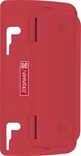 BRUNNEN ブルンネン ポケットホールパンチ 2穴 ファイリング 持ち運び 102065023 (レッド)