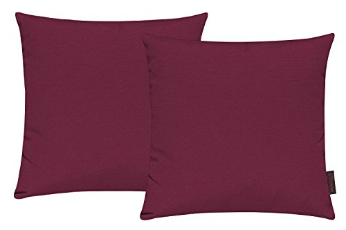 Fino Kissenhülle ca. 40 x 40 cm hochwertig & knitterarm Farbe 50 Rot (2er Set)