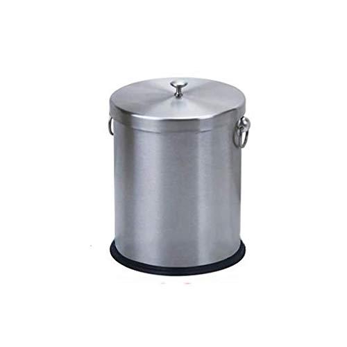 Yxsd Cubo de basura de acero inoxidable, cubo de residuos de té, cubo de recogida de residuos de té, cubo de basura fina para el hogar (tamaño: 23 x 31 cm)