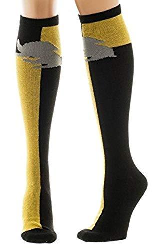 Harry Potter Kniestrümpfe Gryffindor Wappen Löwe, Mehrfarbig (gelb/Schwarz)