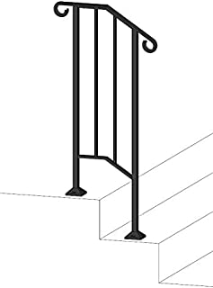 DIY Iron X Handrail Picket #1 Fits 1 or 2 Steps