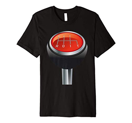 Detroit Manual Gearbox Shifter Knob in 3D Tee