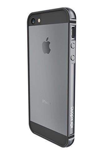 X-Doria Hülle für das iPhone SE & iPhone 5S/5 (Bump Gear Plus), TPU & eloxiertes Aluminium, schützende Pufferhülle, Spacegrau