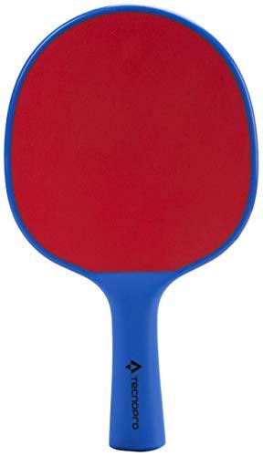 TECNOPRO Tischtennis-Schläger Outdoor Tischtennisschläger, Blau/Rot, One Size