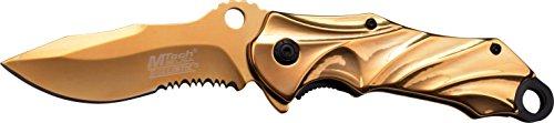 MTech USA Taschenmesser,  Goldene Titan beschichtete Klinge, MT-A888GD