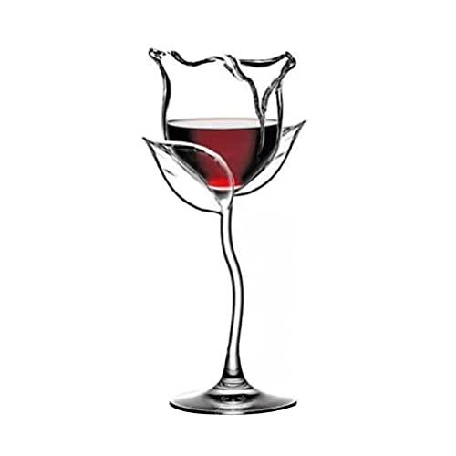Takagawa HHH Copa de cóctel 100ml Forma de Flor de Rosa Vino de Vino Vino de Vino Rojo Vino HHH