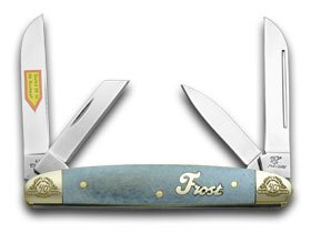 Frost Family 40th Anniversary Blue Smooth Bone 1/600 Congress Pocket Knife Knives