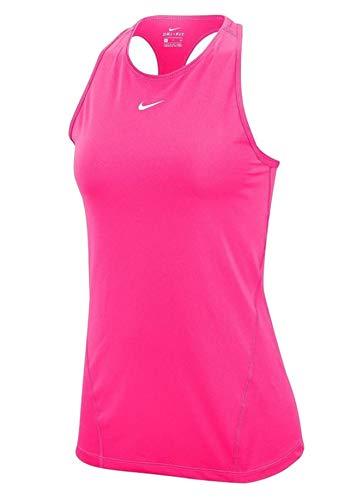 Nike Canotta da Donna all Over Mesh, Donna, Canotta da Donna, AO9966, Rosa/Bianco, M